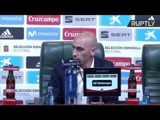 Пресс-конференция нового главного тренера сборной Испании по футболу Фернандо Йерро