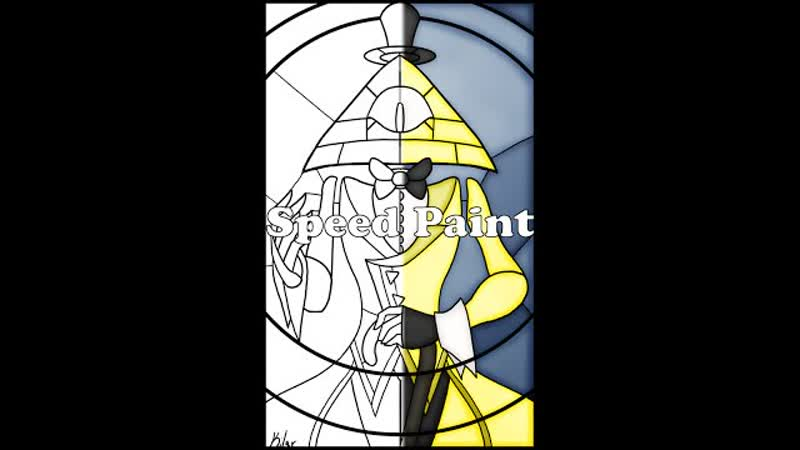 Bill Cipher Stained Glass Speed Paint