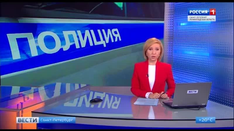Сюжет «На проспекте Стачек мужчина громил стекла и кидался камнем в проезжающие машины» - ТК «Россия 1» «Вести Санкт- Петербург»