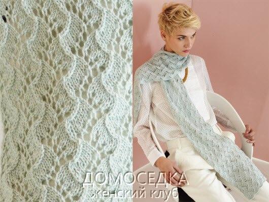 Красивый вязаный шарф от Wei