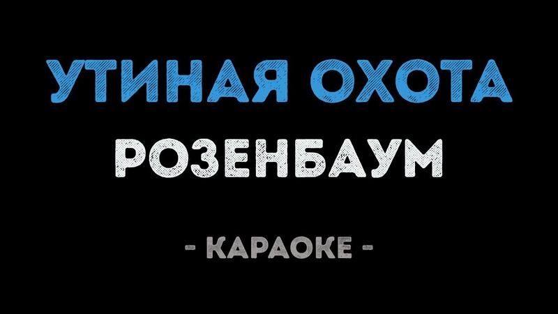 Александр Розенбаум - Утиная охота (Караоке)