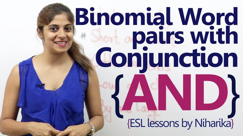 Binomial word pairs with conjunction AND - English Grammar Lesson