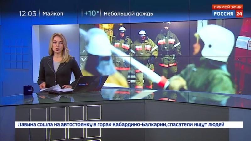 Новости на Россия 24 • Склад с электротехникой горит в Мытищах