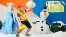Elsa ve Olaf oyunu. Tam Tam Usta Karlar Ülkesine gidiyor