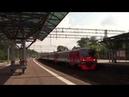 Электропоезд ЭД4М 0161 с вагоном ЭД4М 009410 платформа Яуза