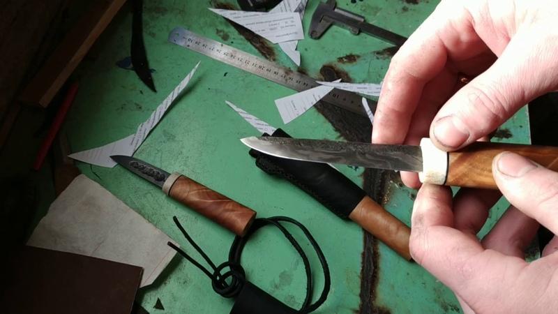 Якуты из дамаска Тесты в конце видео Yakut knife of twisted Damascus steel
