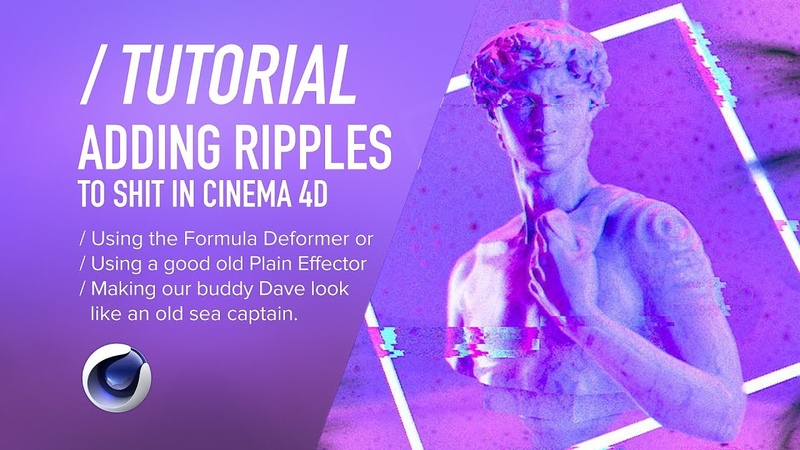 ( / ) C4D TUTORIAL - Adding Ripples to Anything