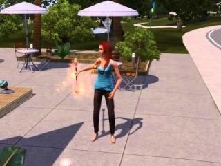 The Sims 3: Шоу-бизнес. Начинающий акробат и огненный жезл. Прикол