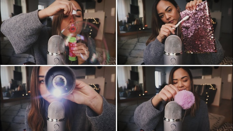 ASMR 100 TRIGGERS IN 4 MINUTES 😍 Mic-brushing • Mouth sounds • Tapping