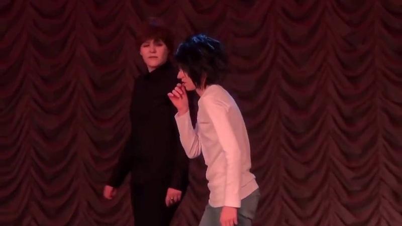 Косплей-сценка по аниме Death Note (Тетрадь смерти) Ай-яй-яй, Кира [Тогучи 2014]