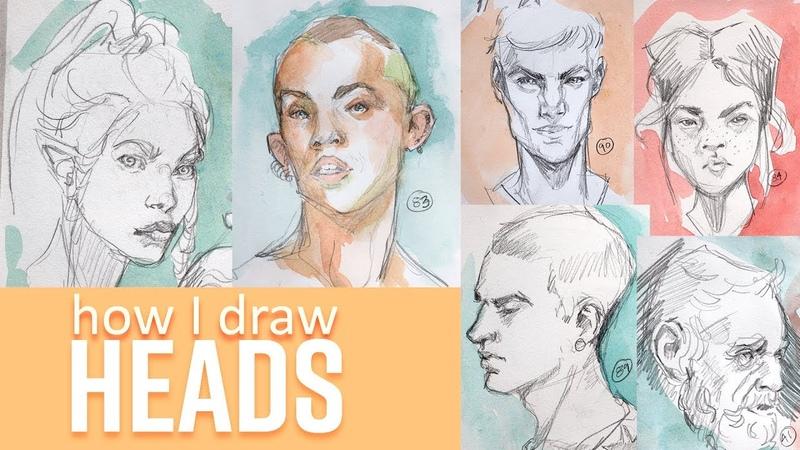 I drew 100 HEADS in 10 DAYS - How I Draw Heads