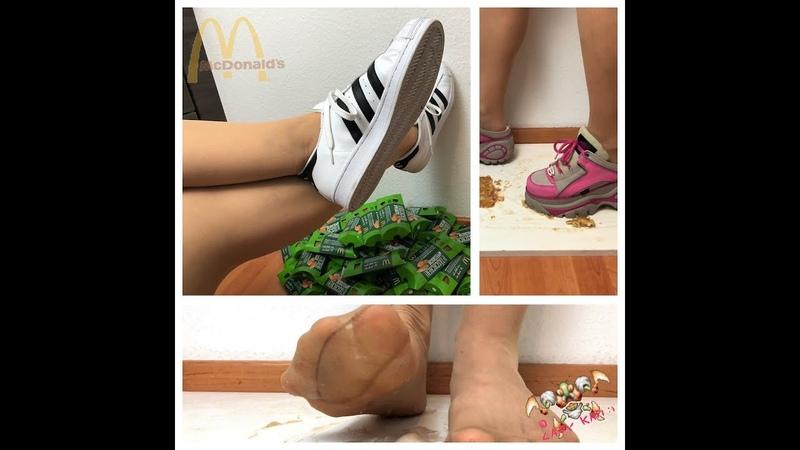 Adidas Superstars 👟 Happy Meal - Lady Kati Crush Fetish 4K (18) 足フェチ