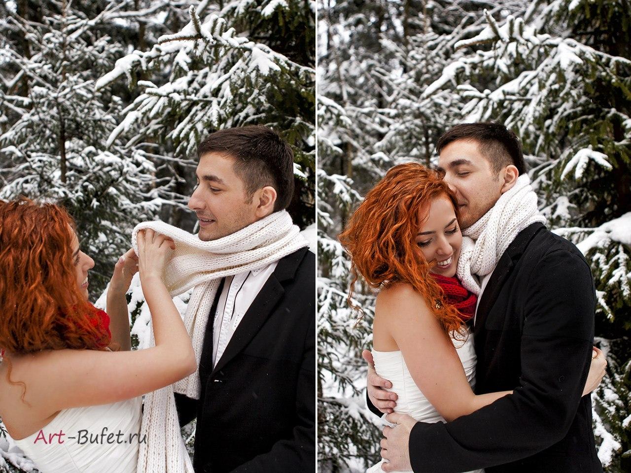 фотосъемка love story зимой