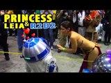 Princess Leia Makes R2D2 Freak Out! - Comic Con - Star Wars