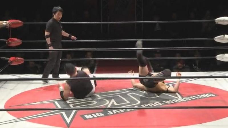 Kankuro Hoshino, Tatsuhiko Yoshino vs. Kazuki Hashimoto, Yuya Aoki (BJW)