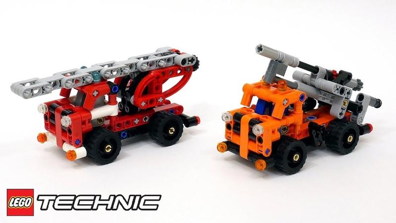 Лего Техник 42088 МОД Пожарная машина и Буровая – Fire Truck and Drilling Rig
