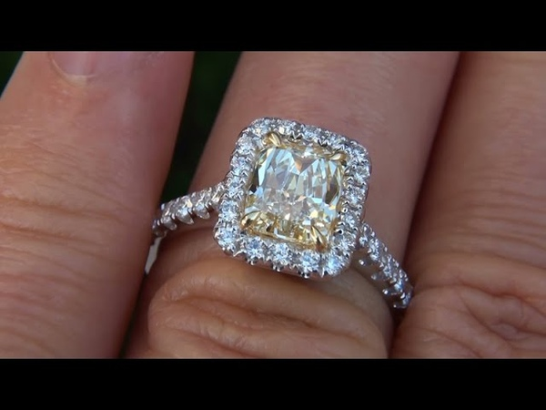 EGL USA Certified Natural VS1 Fancy Yellow Diamond Engagement Anniversary Ring 18k Gold A135294