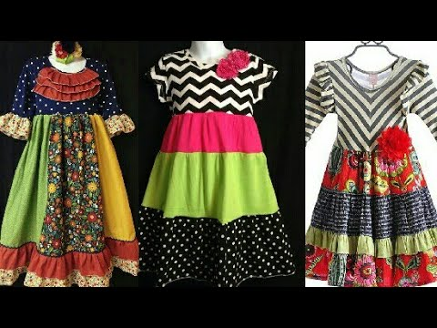 Beautifull Baby girl dress designs in short picesruffle frock sewing dress 2019