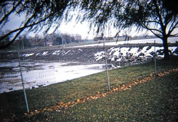 Кадры обезвоженного Ниагарского водопада, 1969 год.