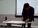 Китайская каллиграфия в исполнении Джа Шуна
