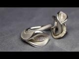 гарнитур (цветок каллы) серьги,кольцо   flower Kala earrings,ring-gold