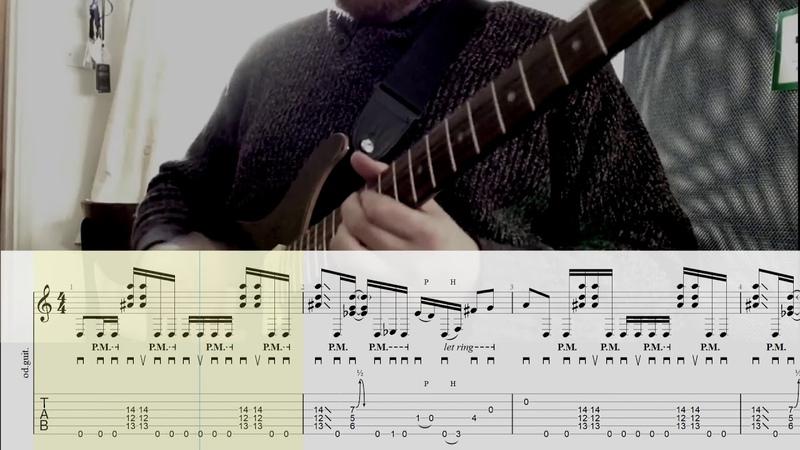 John Browne Agarthian - Full Scrolling Tab Transcription - 6 String DADGAD Tuning Djent