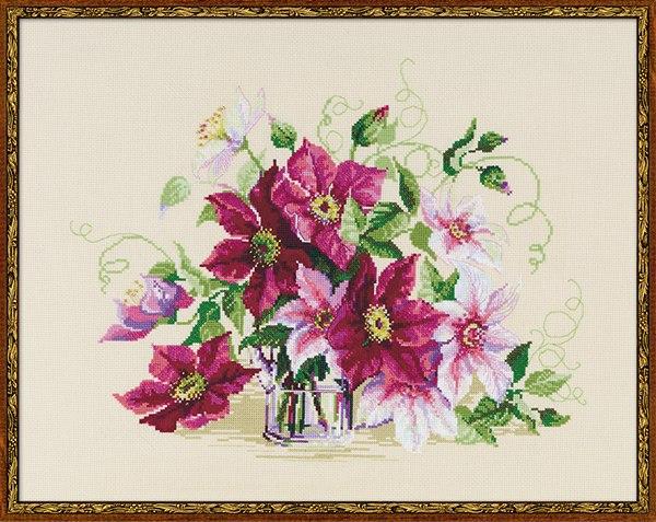 Канва Aida 14 Zweigart цветная, мулине Anchor, бисер, игла, цветная схема, оригинальная подарочная упаковка.