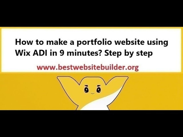 How to make a portfolio website using Wix ADI in 9 minutes? Step by step