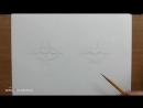 [Азбука Рисования] Как рисовать (нарисовать) губы карандашом - обучающий урок.