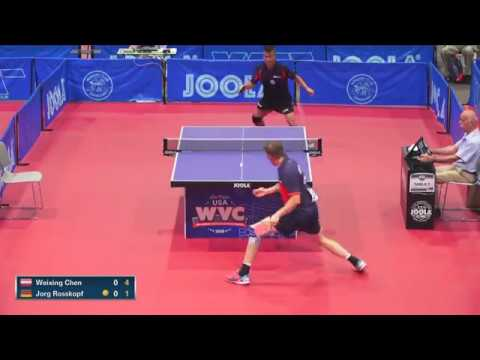 2018 World Veteran Championships - Mens Singles 45 Final - Chen Weixing (AU) vs Jorg Rosskopf (DE)