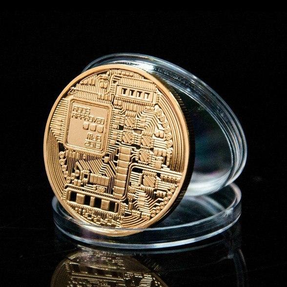 Сувенирная монета Bitcoin -