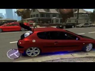 Gta IV EFLC - Garagem cheia de carros com som automotivo