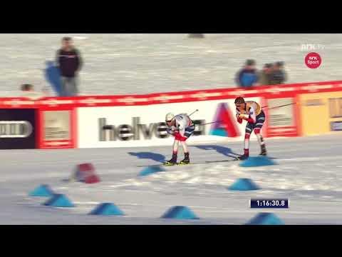 Феноменальный финиш Йоханнеса Клэбо в скиатлоне на 30 км.Лиллехаммер 2017.Лыжные гонки.Кубок мира.