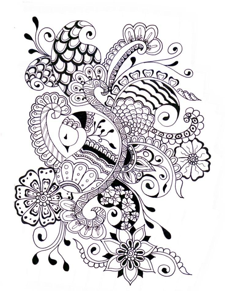 Mehndi Zentangle : Zentangle henna designs makedes