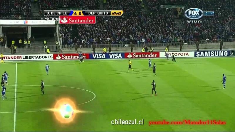 U de Chile 6 0 Deportivo Quito HD Copa Libertadores 2012 ADN Radio Relatos Trovador del Gol
