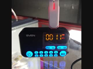 Портативная акустическая система Sven с FM-радио