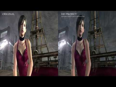 Resident evil 4 HD project BEFORE AFTER Some Cutscenes Comparison