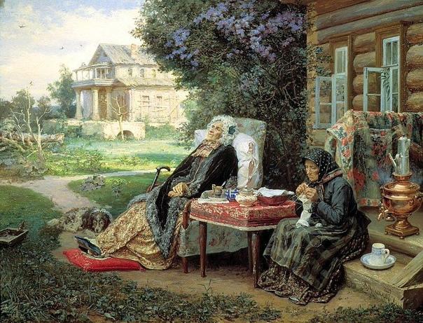 Картина «Всё в прошлом», 1889 год.