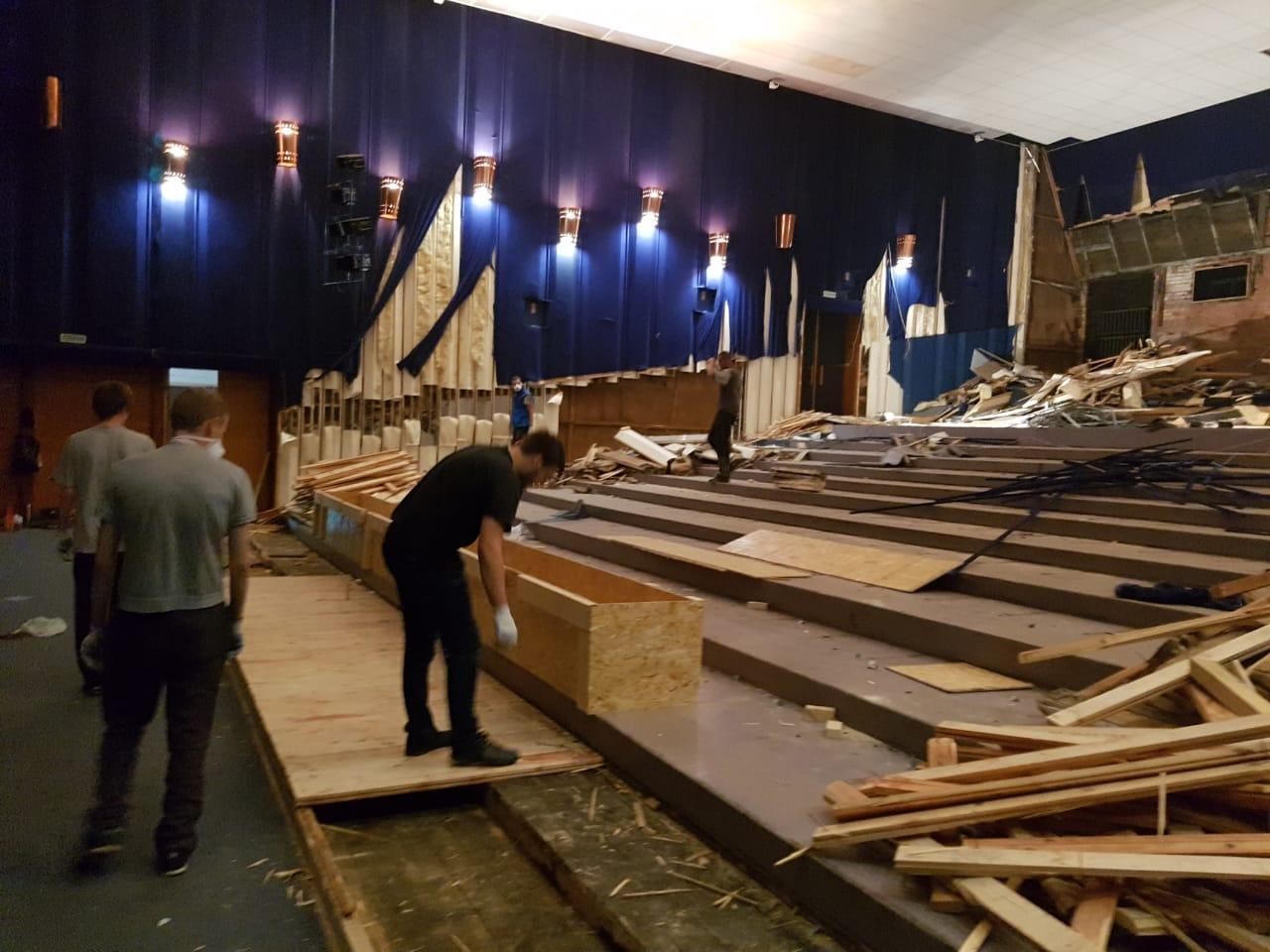 Началась реконструкция зрительного зала кинотеатра «Нейва»