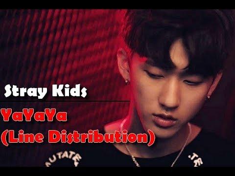 Stray Kids - YaYaYa (OT9 Line Distribution)
