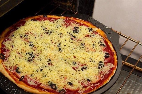 Пицца рецепты в домашних условиях в духовке температура