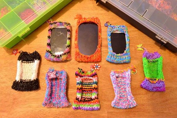 Поделки на телефон из резинок