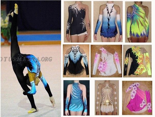эскизы купальников для художественной гимнастики: