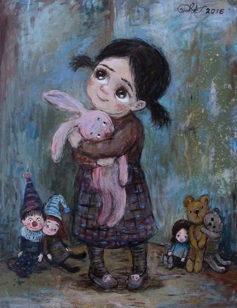 ностальгия по настоящему когда мусе было шесть лет, котяне подарили куклу. котянина мама искала ее в россии, купила там в специальном магазине, везла на перекладных и практически удочерила, пока