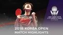 Jang Woojin vs Liang Jingkun 2018 Korea Open Highlights Final