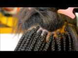 LOOSE BOX BRAIDS WITH FEATHER TIPS