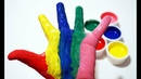 Learn colors with hand paint for kids