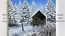 Snowy Cabin STEP by STEP Acrylic Painting (ColorByFeliks)