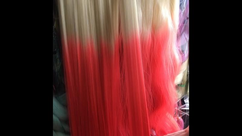 Выпрямление синтетических волос