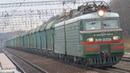 Прибытие ВЛ11-220 с грузовым поездом на станцию Бекасово-1 23.10.2018